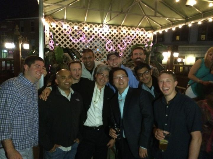 2016 Michigan Spine & Brain Surgeons Holiday Party (Right to Left: Evan Lytle, DO, Ratnesh Mehra, DO, Boyd Richards, DO, Teck Soo, MD, Troy Dawley, DO, Sina Rajamand, DO)